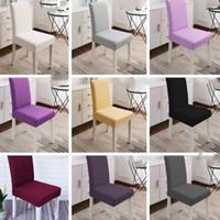 Cubierta de la silla elástico sólido silla de color puro se unió a la familia de la cubierta de asiento simple en el hotel Restaurante CFYZ69Q