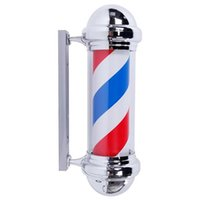 "US-Stock-LED-Beleuchtung Barber Shop Sign Rot Weiß Blau Pole Light 28"" Haircut Barber Shop Rotierende LED-Licht US-Stecker-Zeichen"