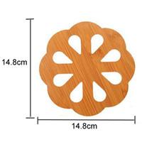 Großes aushöhlen Cartoon Isolierung Tabellenauflage verdicken Anti - Rutsch-Becher-Schale Kissen Holz kreatives Multifunktions Netter Cup Coaster DH0696-1 T03
