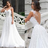 Mariage dentelle robes arabe Dubaï Robes de mariée Sheer Neck Robe De Novia Robe De Mariee