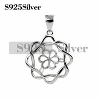 Pearl Mounting Pendant Jewelry Flower 925 Sterling Silver Pe...