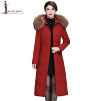 Women Down Jacket Winter Large Fur Collar Hooded Jacket High...