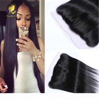 Brazilian straight Lace Frontal Closure With Baby Hair ear t...
