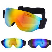Горные лыжи очки Защита от ультрафиолетовых лучей Сноуборд Skate лыжи очки очки маска ветрозащитный Открытый Велоспорт Зимние виды спорта очки