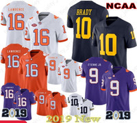 2020 NUEVO 9 Joe Burrow LSU Tigers Jersey Clemson Tigers 16 Trevor Lawrence 9 Travis Etienne Jr. NCAA American Football Jerseys Julio Jones