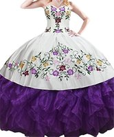 Newest Embroidery Quinceanera Dresses 2019 Applqiues Beads S...