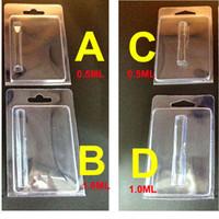 Confezione in plastica Clam Shell Clear Blister Scatola in PVC adatta per 0.5ml 1.0ml Vape Cartridges Vaporizer Tank Carts Atomizzatore Contenitore in PVC Imballaggio