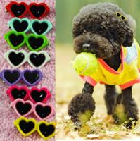 Butik Güneş Pet Köpek Saç kalp Klipler güneş gözlüğü Köpek Bakımı İçin Köpekler Kediler Kıllar Damat dekor malzemeleri 4CM LXL774Q
