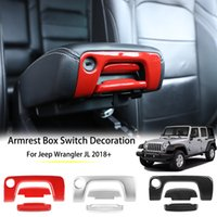 ABS Armrest Box Switch Decoration For Jeep Wrangler JL 2018 ...