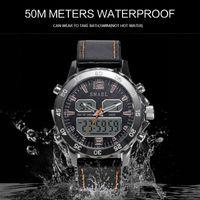 2020 Relojes impermeable del deporte genuino doble pantalla de cuarzo reloj WristwatchesCool hombre Moda Digital Inteligente Hombres Reloj LED 1281