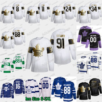 88 William Nylander 2020 Golden Edition Toronto Maple Leafs Tyson Barrie Mitch Marner Juan Tavares Auston Matthews Frederik Andersen Jersey