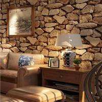 10M * 53CM Retro Effet 3D brique Fond d'écran Rouleau pour le mur de pierre papier Live Wall Chambre Cafe Bar Restaurant Wall Sticker Décor T200111