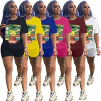 Femmes Rugrats Sets T-shirt à manches courtes + Shorts 2 pièces Jogger costume costume de bande dessinée pull-overvover Tee-shirt Streetwear Tee Tee Tops Suites 2999