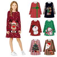 Adolescent enfants fille robe hiver manches longues 3D print dessin animé robe enfants robes pour filles Noël xmas robe princesse robe de nouvel an
