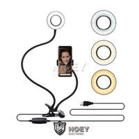 Universal selfie Light Ring avec flexible téléphone portable LED Support Lazy support lampe de bureau pour Diffusion en direct Bureau Maquillage Tik Tok Noey