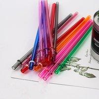 230 * 7MM AS قش البلاستيك لون نقي الشرب مباشرة القش البيئية عيد إمدادات الطرف الديكور القش قابلة لإعادة الاستخدام