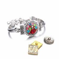 Mode Interchangeable 126 En Métal BraceletBangle Fit 12mm 18mm Snap Bouton Argent Ginger Charm Bracelet Pour Les Femmes Cadeau