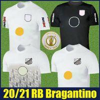 2020 Brasil Bragantino Soccer Jersey Home White Football Shirts Bull Bragantino قميص الإصدار الخاص الأسود Camisa Bragantino 20/21