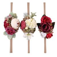 Дети Camellia стяжкой ребёнки Искусственный цветок Headwear Новорожденный Фотография Реквизит Аксессуары для волос Seaside Beach Holiday Christmas Gift