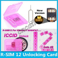 RSIM12 unlocking for iphone X iOS11 R-SIM12 card automatic ICCID unlock ios11.x-7.x iPhone 8 8p 7 7p 6 6p 4G Sprin
