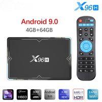 X96H Android 9.0 TV 박스 4GB 64GB H603 쿼드 코어 6K 2.4G 5G 듀얼 WiFi BT4.1 Google Player 셋톱 박스 X96 H 4GB 32GB TX6