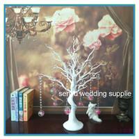 키 큰 75cm) 웨딩 트럼펫 꽃병 화이트 웨딩 꽃병 / 중앙 웨딩 테이블 senyu0134