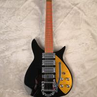 Freies verschiffen benutzerdefinierte schwarz 325 modell 3 pickups elektrische gitarre china gitarre heißer verkauf großhandel gitarren aus China chordabstand 527 mm