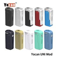 Yocan UNI Box Mod 650mAh 배터리 예열 가변 전압 VV Vape Mods with Magnetic 510 어댑터, 두꺼운 오일 카트리지 용 100 % 정통