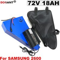 Samsung 18650 Hücre 72 V Üçgen E-bike Lityum Pil için 72 V 18AH Bafang BBSHD için Elektrikli Bisiklet Pil 1000 W 1800 W Motor