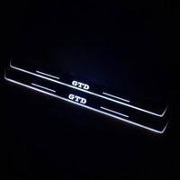 Hareketli LED Hoşgeldiniz Pedalı Araba Ilaç Plaka Pedalı Kapı Eşiği Yolu Işık VW Volkswagen Golf 7 Golf 6 GTD