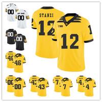 Benutzerdefinierte Iowa Hawkeyes 2019 Mens College Football Trikot beliebiger Name Nummer personalisiert gelb weiß schwarz Epenesa Stanley 12 Fant Stanzi Trikot