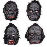 Masque Halloween orang-outan Masque Effrayant Ape Horreur cosplay silicone Orangutan Masque Orangutan pied Costume Party Supply RRA2642