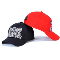 wholesale-summer caps Fashion autumn and winter baseball cap male visor embroidery tiger head cap hot sale
