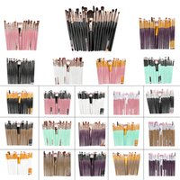 20Pcs ODM OME Makeup Brushes Set Pro Rose Gold Powder Blush ...