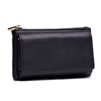 Women Genuine Leather Housekeeper Key Wallet Smart Car Bag Pouch Ring Wrap Organizer Case Man With Coin Card Holder Keychain