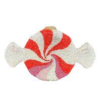 Boutique femmes cristal bonbons Pochette Minaudière sac de soirée de soirée de mariage de mode sac à main de mariée Sac à main