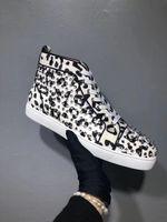 공장 도매 남성 스니커즈 빨간 아래쪽 신발 저렴한 잘라 남성 스니커즈는 캐주얼 신발 Python 가죽으로 주니어 스 남자 studed 레이스 sneake