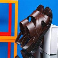 Adam yaz plaj sandalet Leisure terlik zy380 için Sıcak Satış-İnek sandal Antiskid sandal
