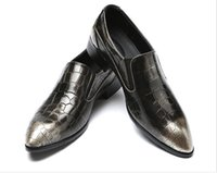 78618b227ec8 2018 Classic Mens Pleated Patent Leather Formal Dress Shoes Slip On ...