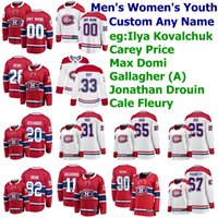 Ilya Kovalchuk Jersey Carey Price Brendan Gallagher Max Domi Cale Fleury Hockey pullover su ordinazione cucito Montreal Canadiens Maglie Uomo