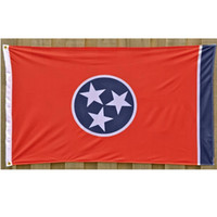 Tennessee Flag USA American State Flags 3ftx5ft Fliegen Günstige Indoor Outdoor-Polyester-Gewebe-Druck Flagge Banner Hanging
