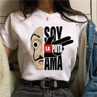 Ev Kağıt Tişörtlü Yeni Para Heist Kadınlar La Casa De Papel Tişört Komik En Tee Moda Bayan Giyim T -tişörtler