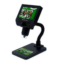 G600 600X Microscopio USB electrónico Digital Soldadura digital Video Cámara de microscopio de 4,3 pulgadas LCD Endoscopio de lupa + LED