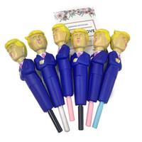 2020 Дональд Трамп Squishy ручка медленный отскок декомпрессионная игрушка имитация мультфильм смешные ручки крышка медленный рост сожмите новинка игрушки продажа