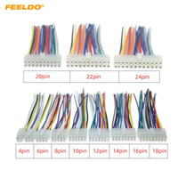 FEELDO Universal Araç Tel Harness Connector 4Pin-24pin içine Araba DVD, CD Radyo Stereo Tel Fiş Adaptörü # 5697