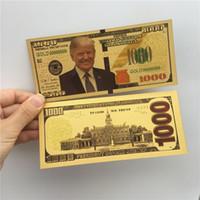 Donald Trump Dollar US-Präsident Banknote Goldfolie Bills America Allgemeine Wahlen Versorgung Souvenirs Falschgeld Coupon E3408