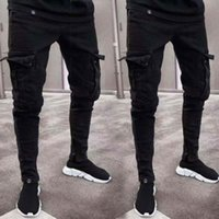 2019 Men Pants Pencil Solid Men Slim Fit Urban Straight Leg ...