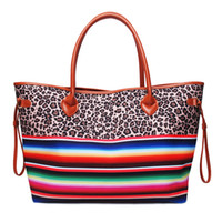 Wholesale Leopard Serape Weekender Bag Personalized Canvas S...