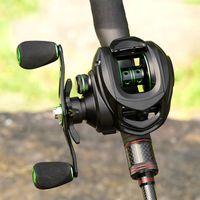 Linnhue 2020 Meilleur bobine de Baicasting 8. 7.2: 1 Basse de la carpe Bobine de pêche 8kg Max Drag gauche Bobines de main droite avec frein magnétique