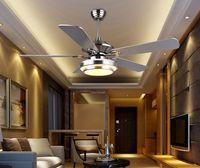 Deckenventilator moderne LED Holz Deckenventilatoren mit Lichtern silbrig Bronze 42 Zoll 48 Zoll 52 Zoll dekorative Fans LLFA